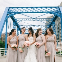 Wedding Bridal Party on the Blue Bridge